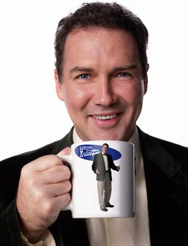 How cool would it be if the pic on the mug was holding a picture of Norm holding a mug?
