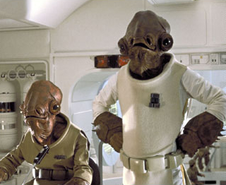 """I'm your host, Admiral Ollie Ackbar, and this is my sidekick, Ed McMonCalamari."""