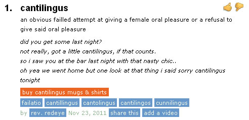 Sexual slang urban dictionary