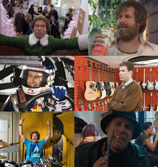elf buddy anchorman ron burgundy talladega nights ricky bobby stranger than fiction harold crick step brothers brennan huff other guys allen gamble