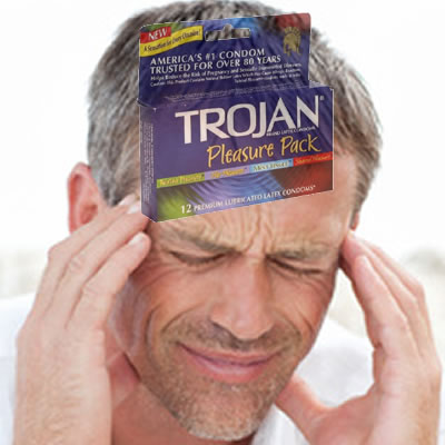 """Your Trojan condom is in my head..."""